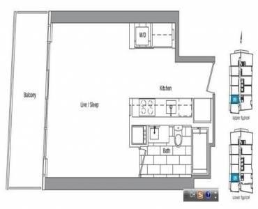 75 Queens Wharf Rd- Toronto- Ontario M5V0J8, 3 Rooms Rooms,1 BathroomBathrooms,Condo Apt,Sale,Queens Wharf,C4797365