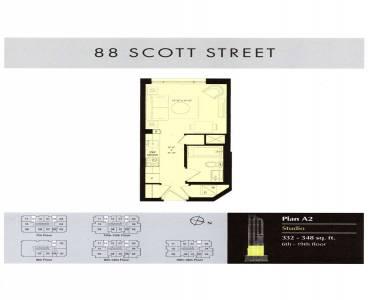 88 Scott St- Toronto- Ontario M5E1X6, 3 Rooms Rooms,1 BathroomBathrooms,Condo Apt,Sale,Scott,C4806378