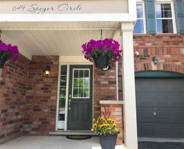 649 Speyer Circ- Milton- Ontario L9T0Y5, 2 Bedrooms Bedrooms, 6 Rooms Rooms,2 BathroomsBathrooms,Att/row/twnhouse,Sale,Speyer,W4808339